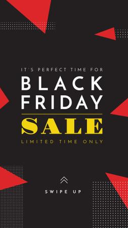 Ontwerpsjabloon van Instagram Story van Black Friday sale on geometric pattern