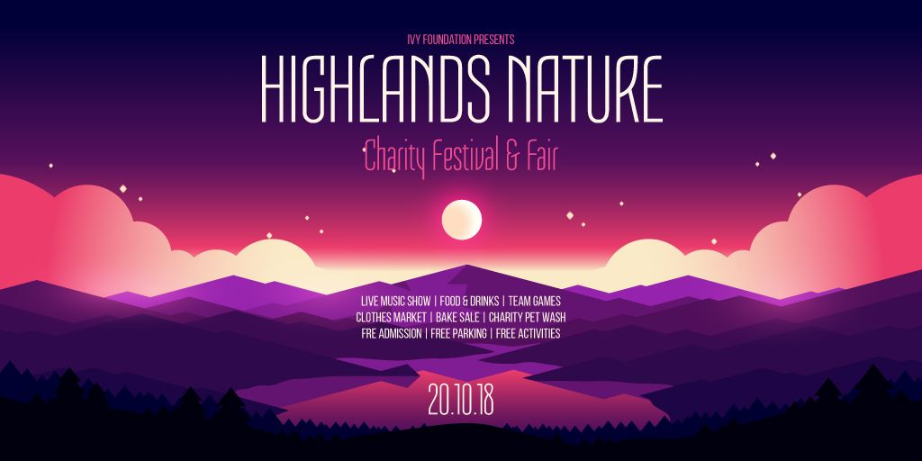 Charity festival and fair banner — Maak een ontwerp