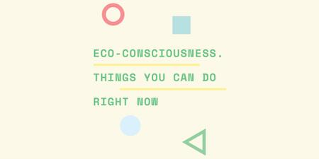Eco-consciousness concept Twitterデザインテンプレート