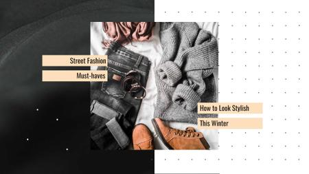 Fashion Ad with Casual Winter Outfit Full HD video – шаблон для дизайну