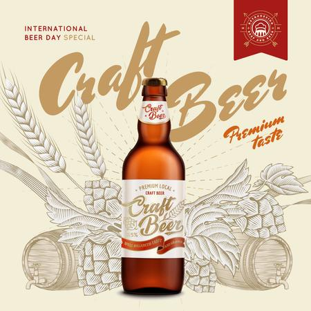 Ontwerpsjabloon van Instagram van Beer Day Special Bottle Craft Beer