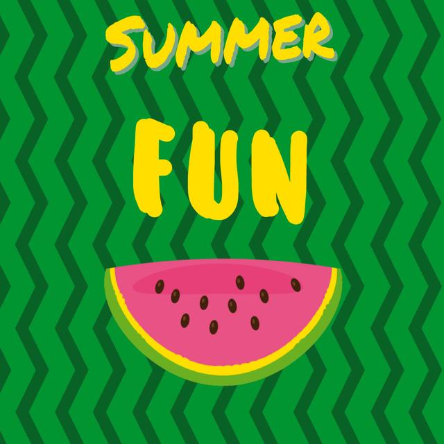 Piece of fresh Watermelon Animated Post Design Template