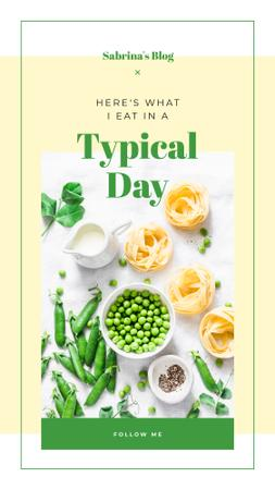 Template di design Green peas and pasta Instagram Story