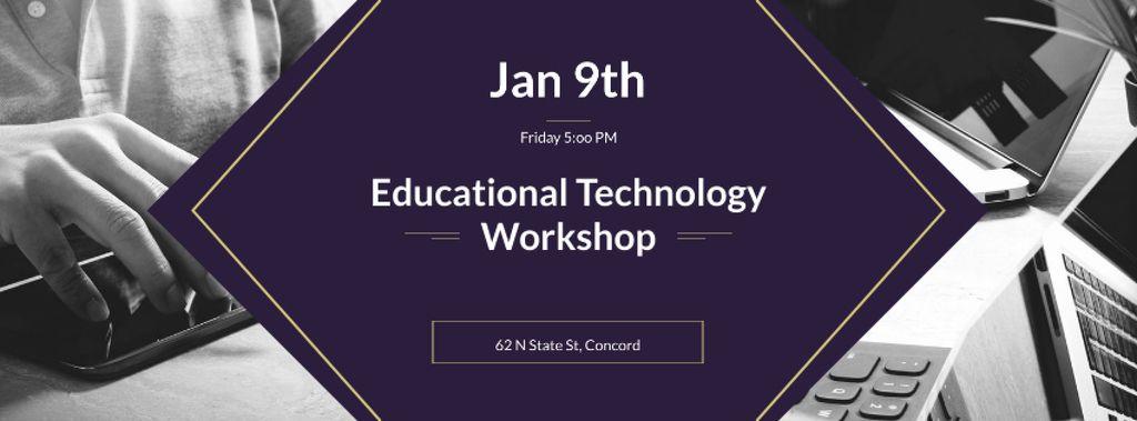 Educational Technology Workshop Facebook cover Design Template