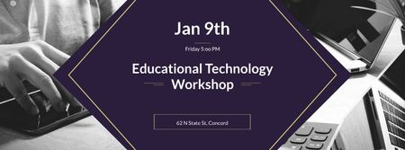 Educational Technology Workshop Facebook cover – шаблон для дизайну