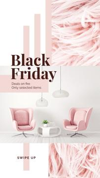 Black Friday Deal Cozy Interior in Pink Color | Stories Template