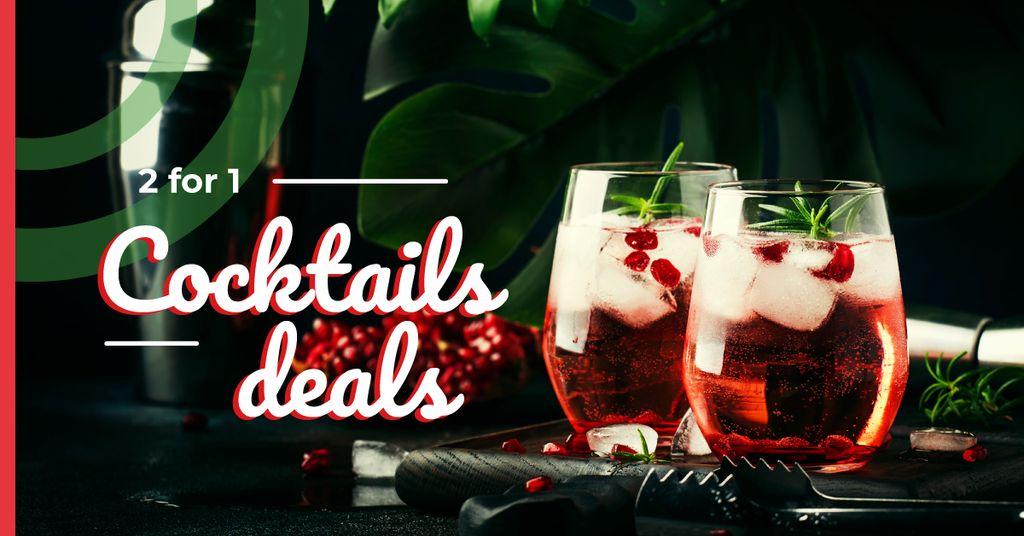 Glasses with iced drinks — Створити дизайн