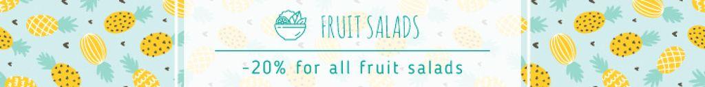 Salads Offer Pineapple Fruit Pattern — Создать дизайн