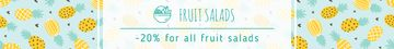 Salads Offer Pineapple Fruit Pattern | Leaderboard Template