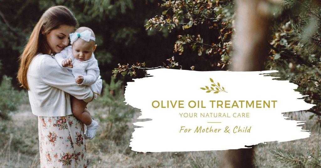 Mother hugging baby outdoors – Stwórz projekt