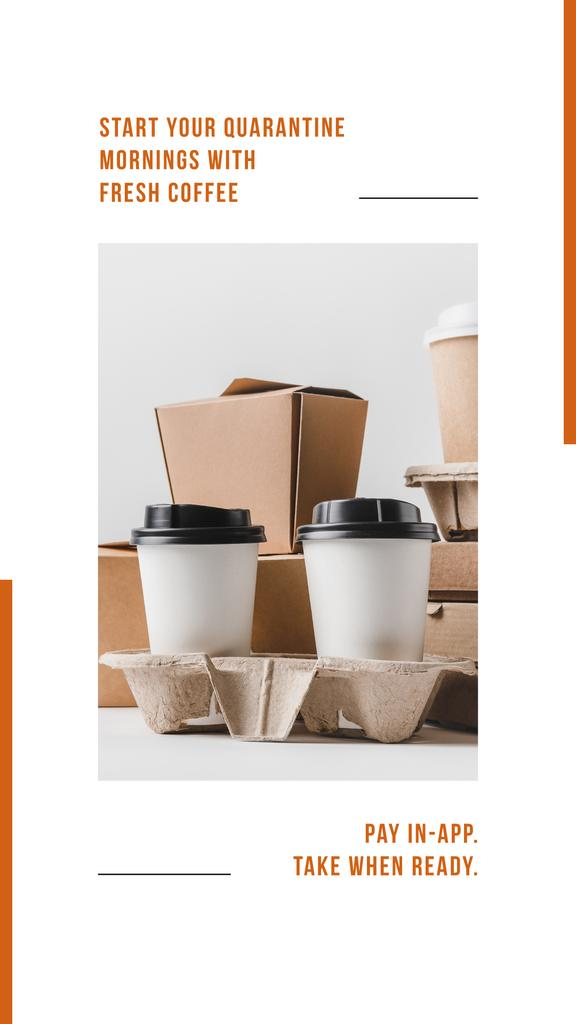 Online ordering Offer with Coffee to go — Создать дизайн
