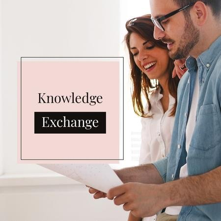 Modèle de visuel Business Knowledge exchange - Instagram