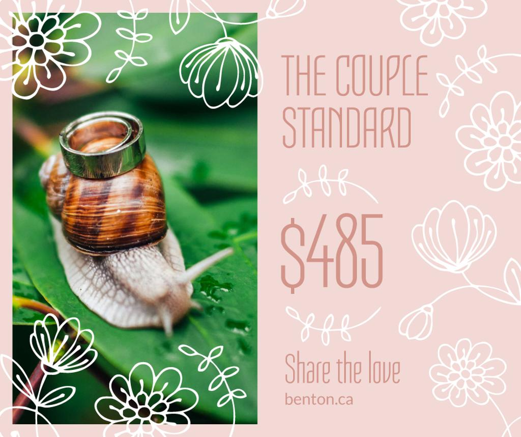 Wedding Offer Rings on Snail | Facebook Post Template — Create a Design