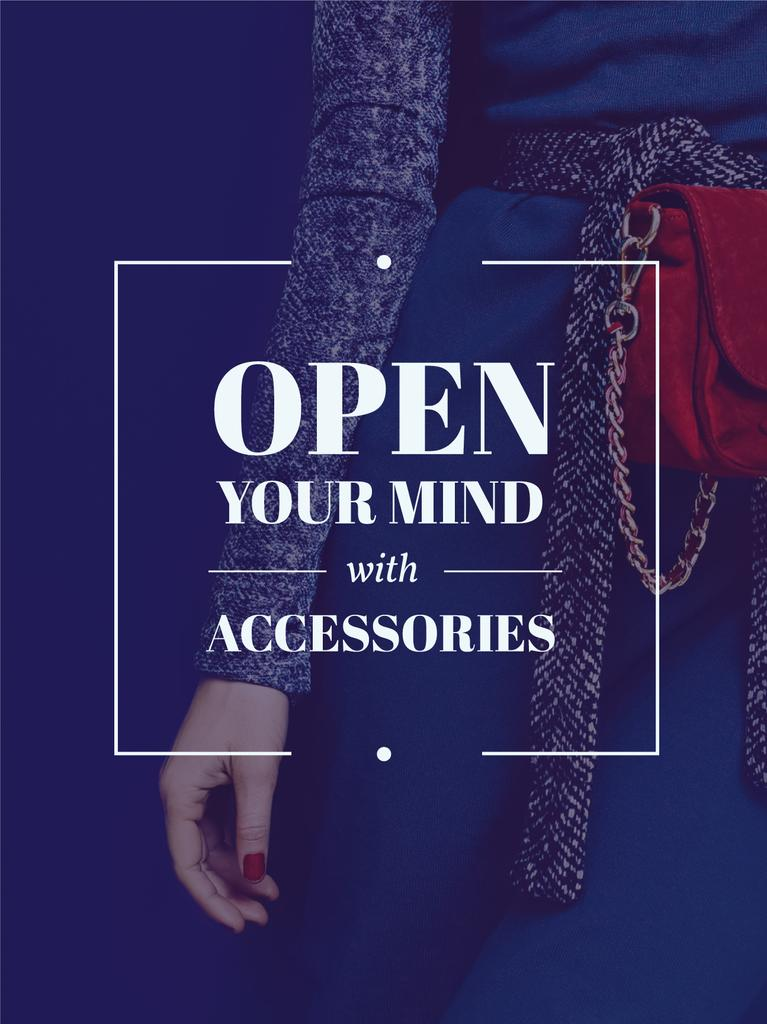 Accessories Quote Stylish Woman in Blue — Создать дизайн