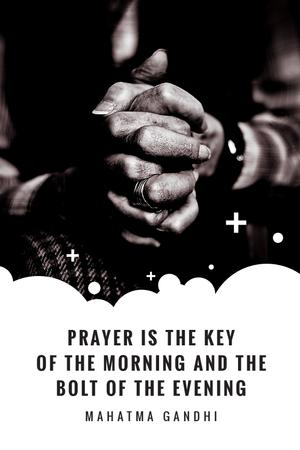 Modèle de visuel Faith Quote Hands Clasped in Prayer - Tumblr