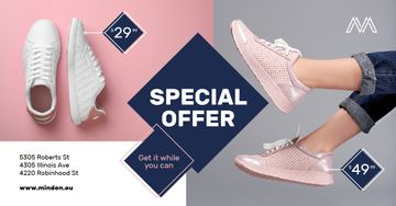 Shoes Sale Female Legs in Sports Shoes | Facebook Ad Template