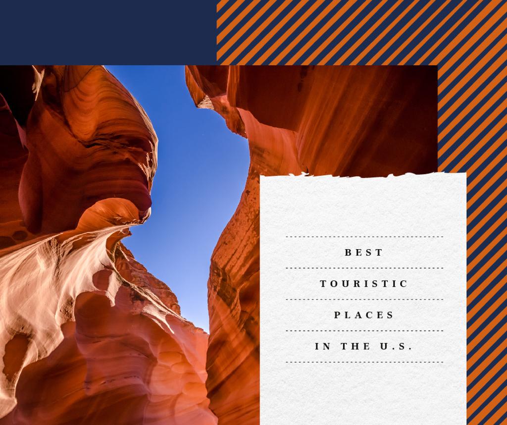 Plantilla de diseño de Red sand Canyon view Facebook