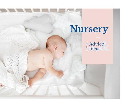 Plantilla de diseño de Nursery Design Baby Sleeping in Crib Facebook