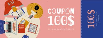 Language Courses Offer with People studying