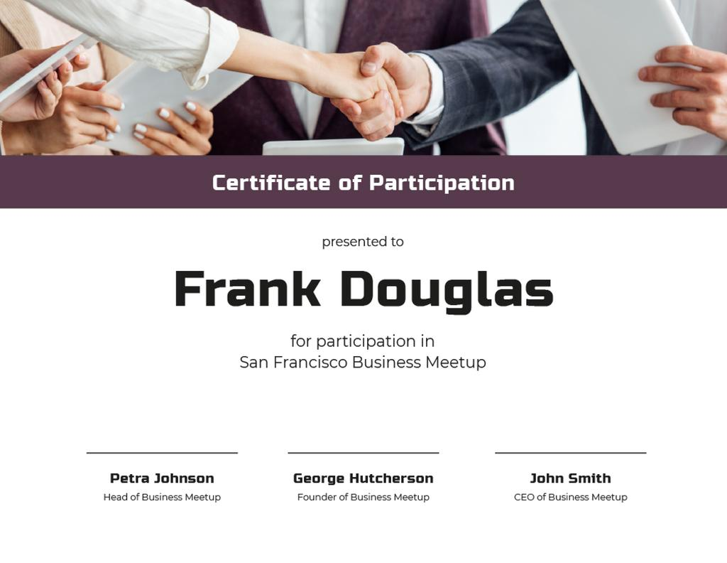 Business Meetup Attendance confirmation with Handshake — Create a Design