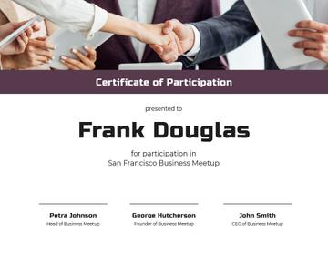 Business Meetup Attendance confirmation with Handshake