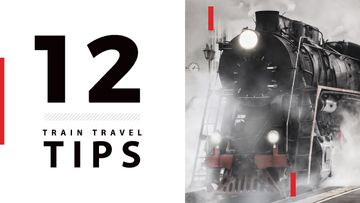 train travel tips background with steam engine train