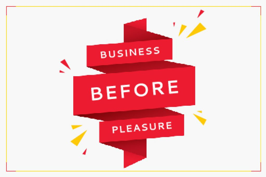 Business before pleasure — ein Design erstellen