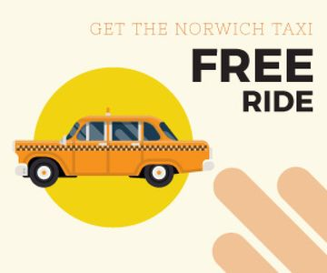 Taxi free ride ad