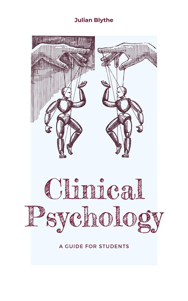 Psychology Guide Hands Manipulating Puppets Book Cover Tasarım Şablonu