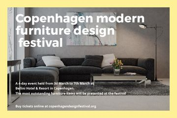 Modern furniture design festival Announcement