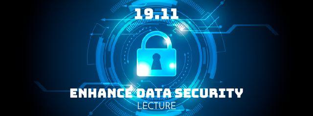 Lock icon on digital screen Facebook Video cover Modelo de Design