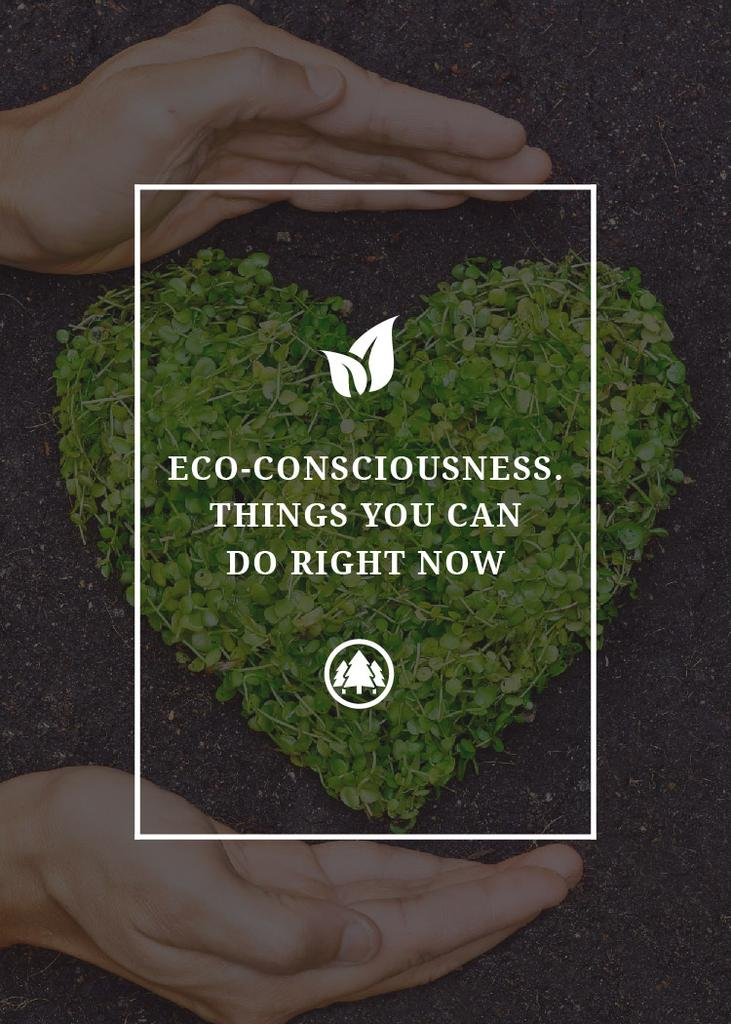 Eco Quote on Heart of Leaves — Створити дизайн