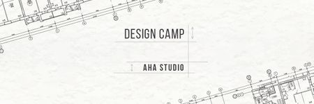 Design Studio Ad with House Plans Email header – шаблон для дизайна
