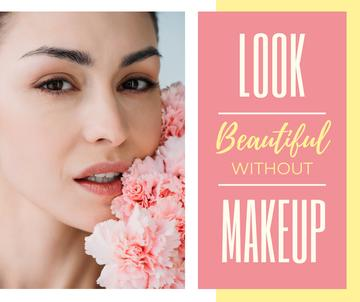 Beauty Inspiration Makeup Young Girl Without Makeup | Facebook Post Template