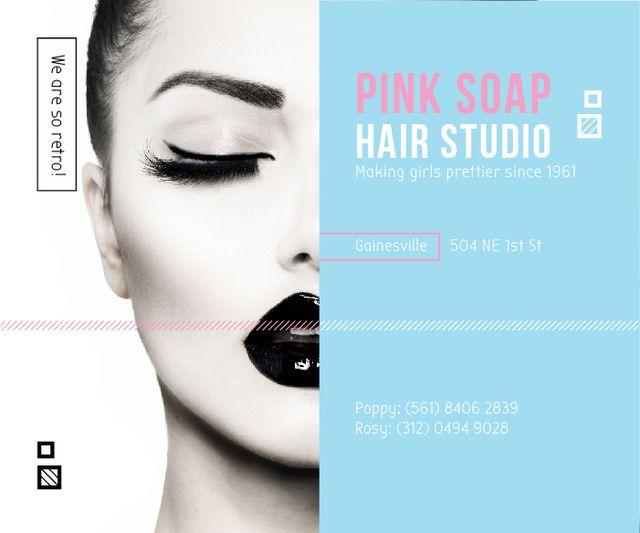 Szablon projektu Pink Soap Hair Studio Large Rectangle