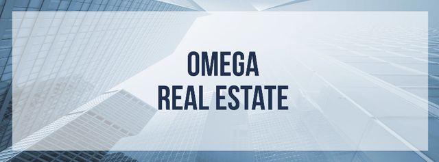 Modèle de visuel Real Estate Advertisement Modern Skyscrapers - Facebook cover
