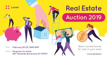 Real Estate Event Announcement Agents at Work | Facebook Event Cover Template