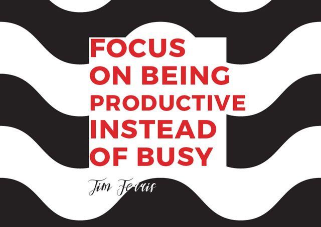 Modèle de visuel Citation about productivity - Card