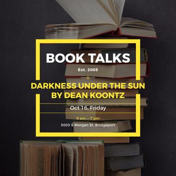Book talks poster