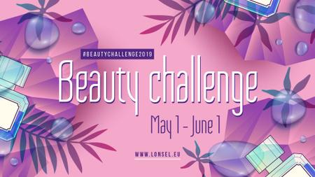 Plantilla de diseño de Beauty Event bottles with Perfume in purple FB event cover