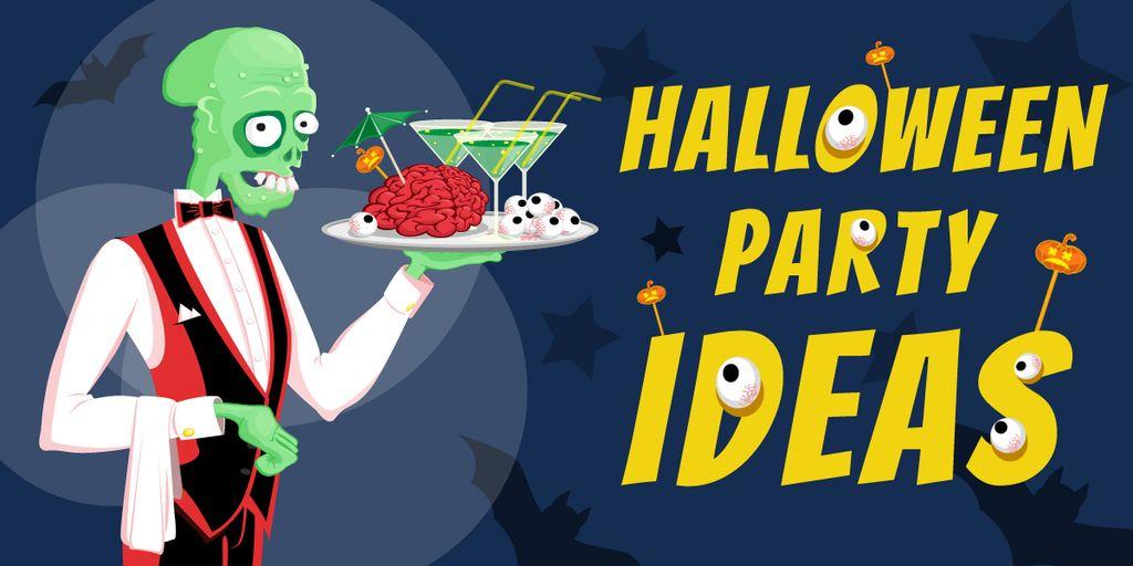 Halloween party ideas poster — Modelo de projeto