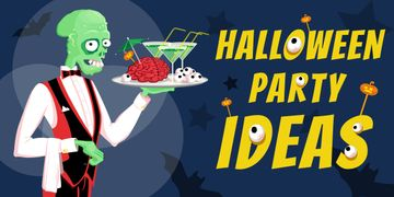Halloween party ideas poster
