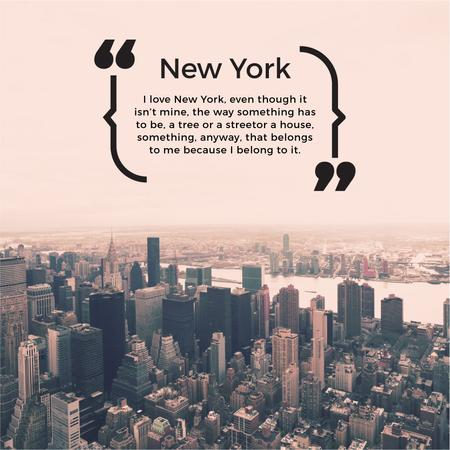 New York Inspirational Quote on City View Instagram AD Modelo de Design