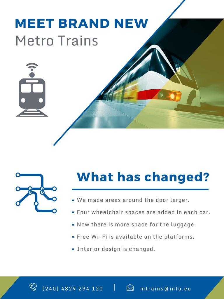 New metro trains announcement — Crea un design