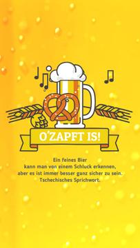 Oktoberfest Offer Lager in Glass Mug in Yellow | Vertical Video Template