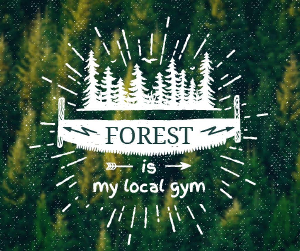 Forest quote poster — Créer un visuel