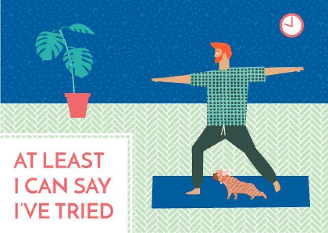 Motivational sports quote Card Tasarım Şablonu