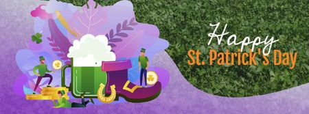 Plantilla de diseño de Saint Patrick's Celebration Attributes Facebook Video cover