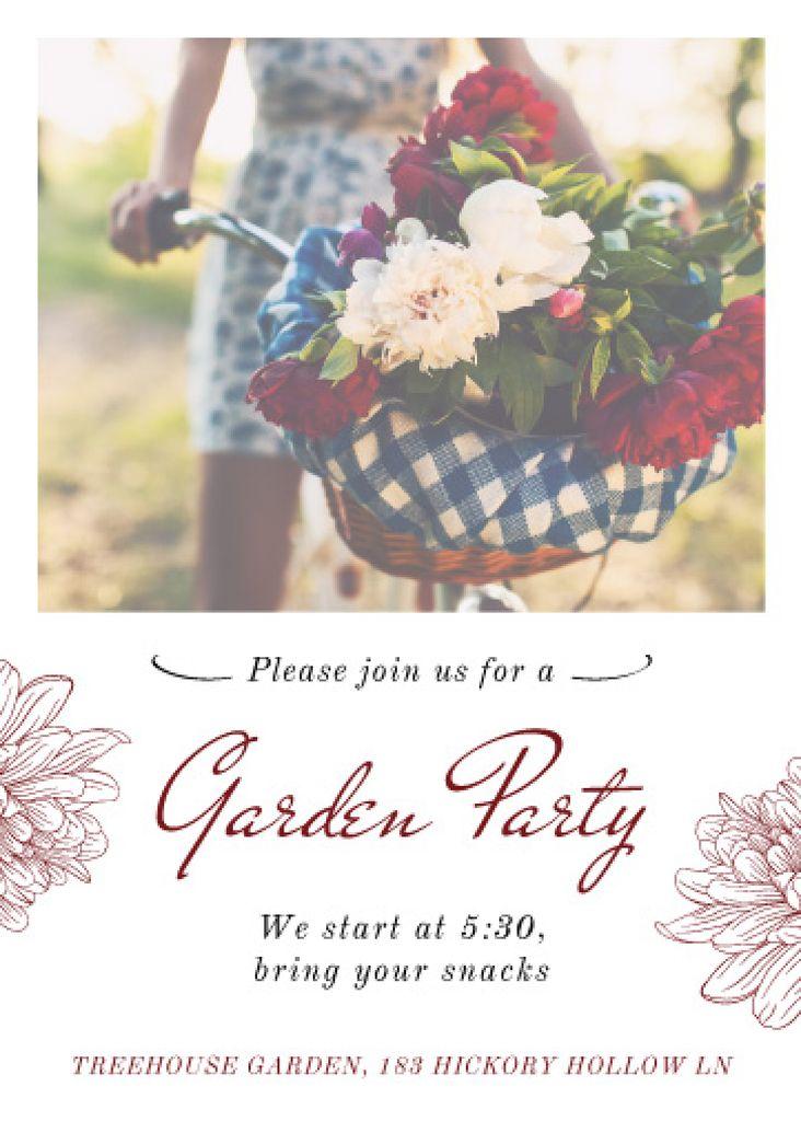 Garden party invitation — Créer un visuel