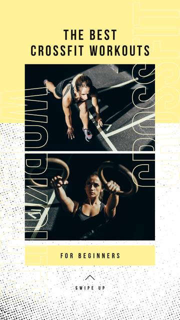Plantilla de diseño de The Best Crossfit workout with Girl cross training Instagram Story